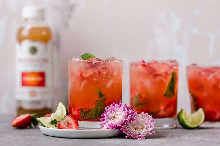 Strawberry Mojito Kombucha Cocktail