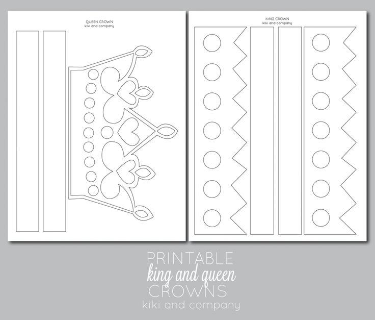 Best 25 crown template ideas on pinterest crown printable printable kings and queens crown free printable pronofoot35fo Choice Image