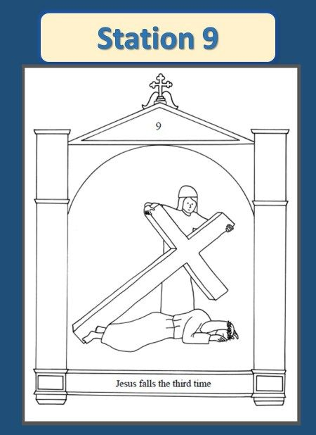 14 best Stations of the Cross Coloring Pages images on Pinterest ...