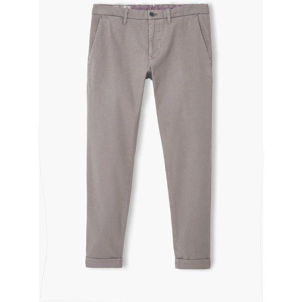 Chino slim-fit canvas - Pantaloni da Uomo | MANGO (€40) via Polyvore