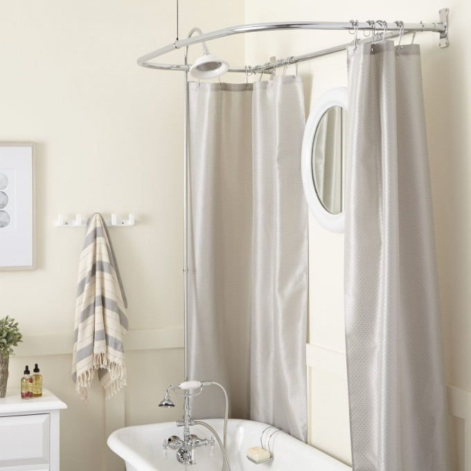 D Shaped Brass Shower Curtain Rod Starting At 147 95 54 L X 30