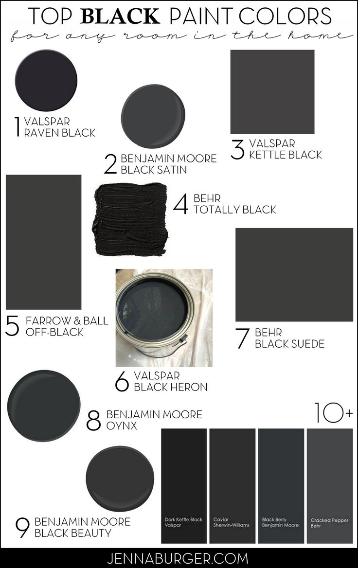 chrome hearts eyeglasses outlets of mississippi stores TOP BLACK PAINT COLORS for any room in the home  Paint Color roundup by Jenna Burger Design  www jennaburger com