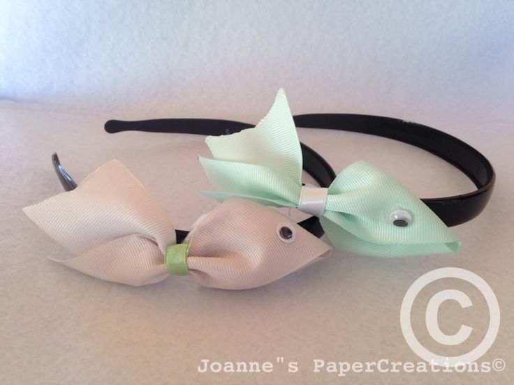 Ribbon Fish headbands made by Joanne's PaperCreations.