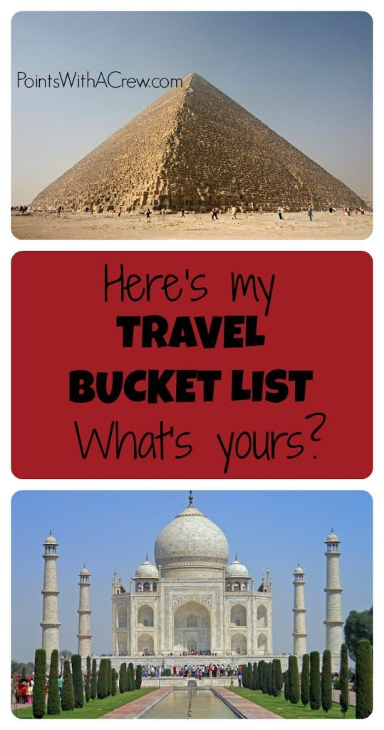 Here's my travel bucket list - what's yours? Some of the best family travel sights and inspiration from travel expert Dan Miller