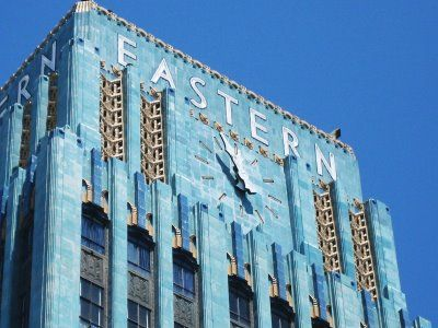 The Eastern Columbia Building (849 S. Broadway) was built by Architect Claude Beelman in 1930 as the headquarters and retail center for the Eastern & Columbia clothing and furniture companies. The building was converted into luxury residential condos in 2007.