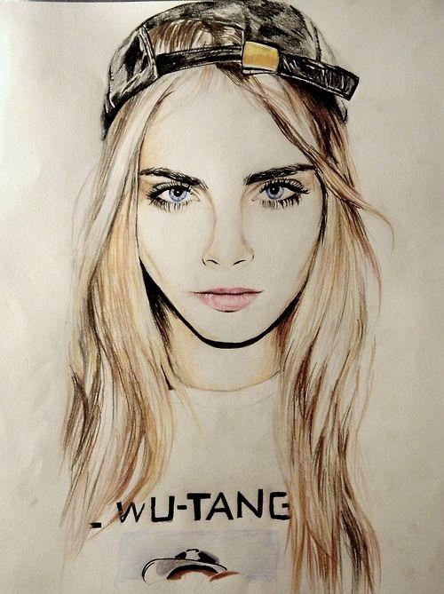 Cara Delevigne sketch by Savanah Forte