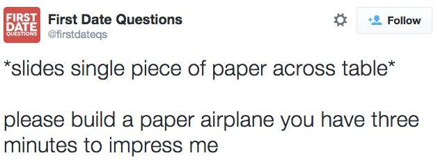 21 Hilarious Twitter Ideas For First Date Questions - ViralDire.com