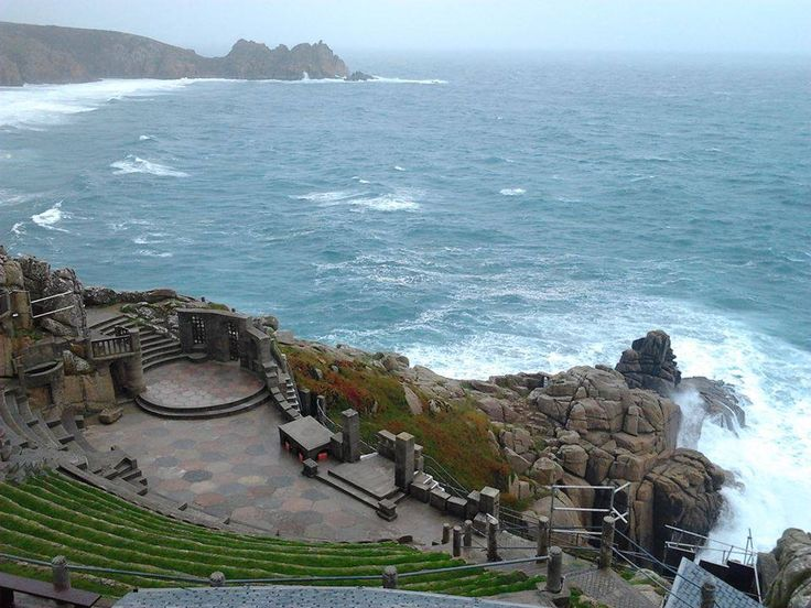 It's looking a bit blustery down at The #Minack #Theatre #Cornwall, still beautiful though!