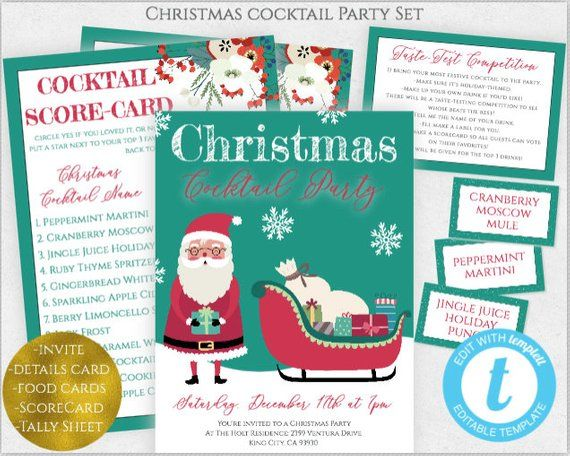 Christmas Tail Party Invitation