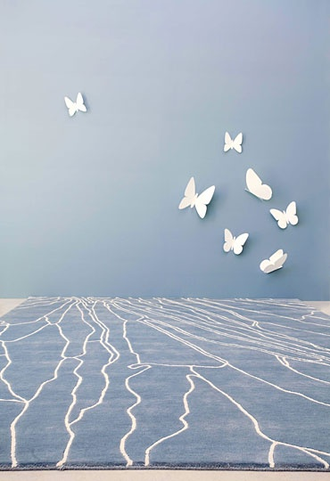 WovenGround   Modern Rugs   Butterfly Wings Rugs