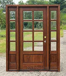 entry doors with glass. 8 lite exterior door and sidelights with Clear Beveled Glass Best 25  Exterior doors glass ideas on Pinterest Front