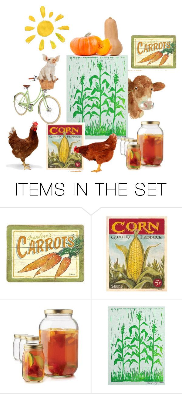 """""""Farm Stand"""" by pgarmhausen ❤ liked on Polyvore featuring art, rustic, etsy, giardino and farmhouse"""