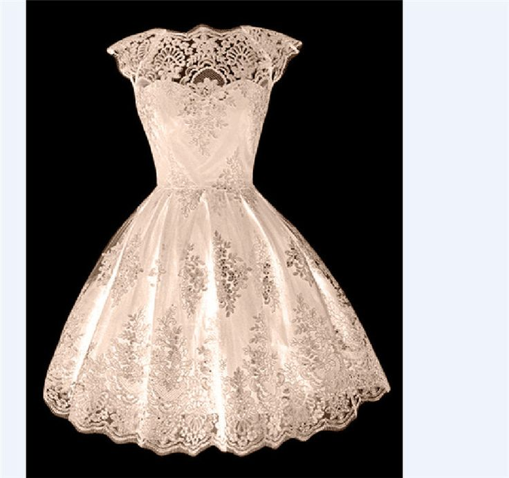 Fashion Eyelash Tassel Lace A-Line Flared Short Dress