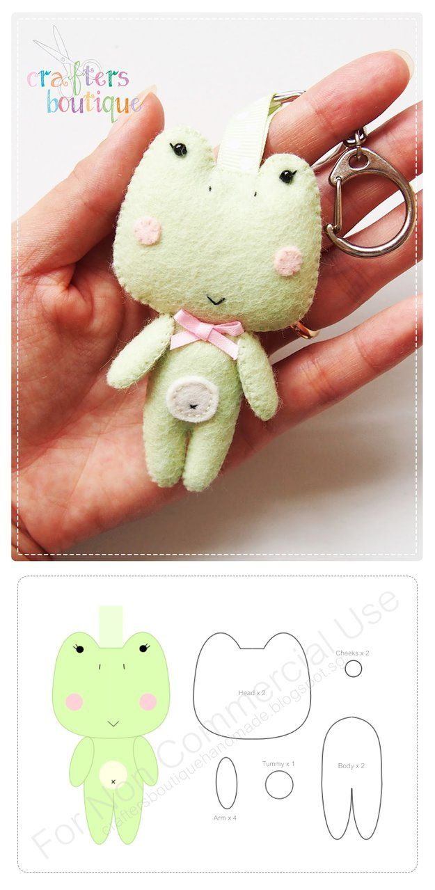 Little Miss Frog Keychain Pattern by CraftersBoutique