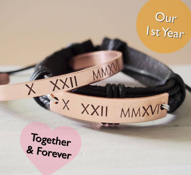 Anniversary bracelet for couples, our 1st year anniversary bracelet for boyfriend and girlfriend, top gifts idea for couples, great anniversary gifts for men