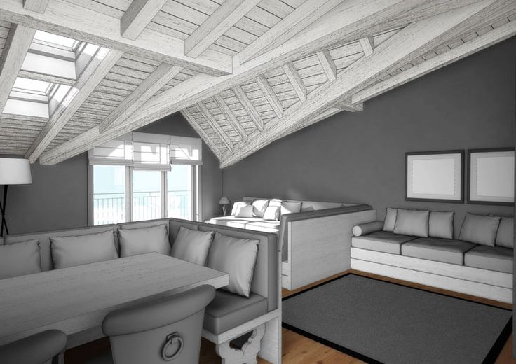 Eidomatica - rendering appartamento in montagna/mountain holiday apartment rendering