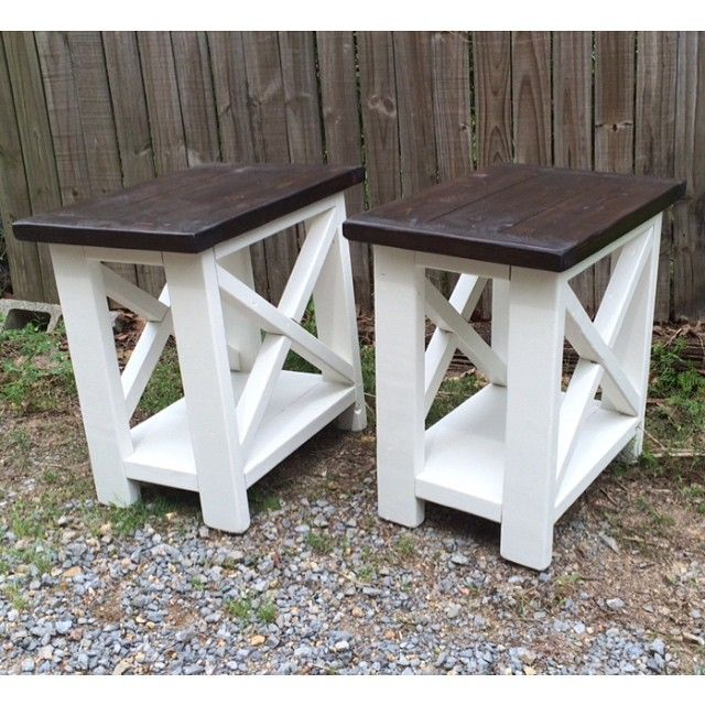 Smaller Version Of Our Rustic X End Tables Living Room