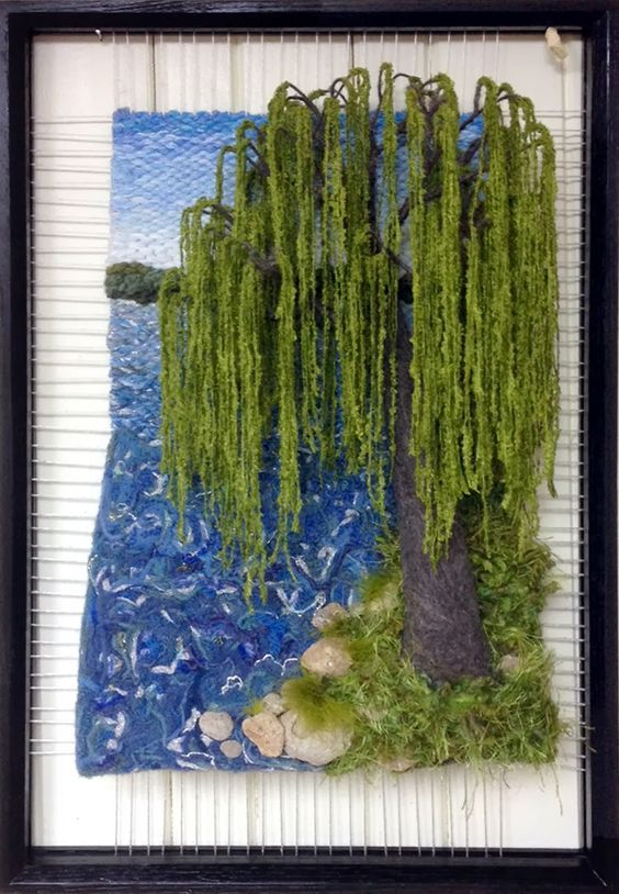 Dimensional Weaving - Martina Celerin 3D fiber art: