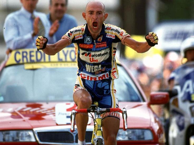 «Marco, perché vai così forte in salita?» «Per abbreviare la mia agonia»   Marco Pantani (Cesena, 13 gennaio 1970 – Rimini, 14 febbraio 2004)