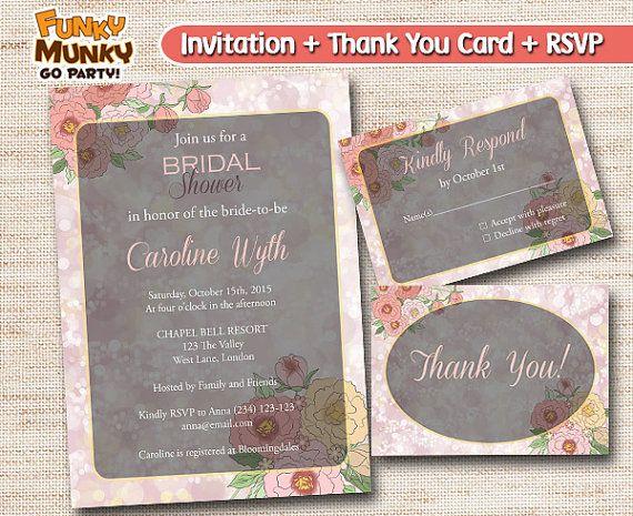 Pastel Flower Bridal Shower Invitation  by funkymunkygoparty