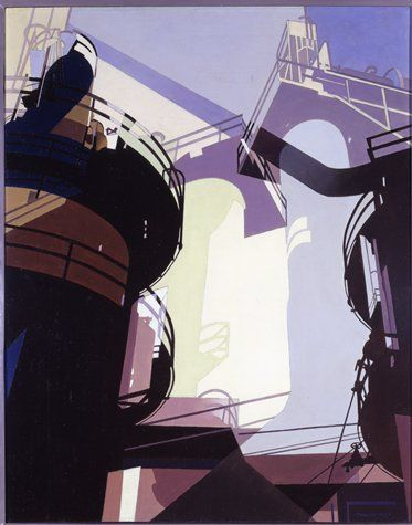 Charles Sheeler painting of post-industrial America. fell in love with it at Boston Museum of Fine Art