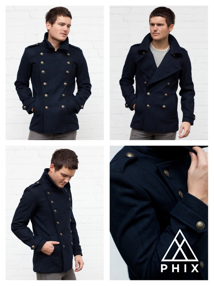 Mens Military Pea Coat Jackets - JacketIn