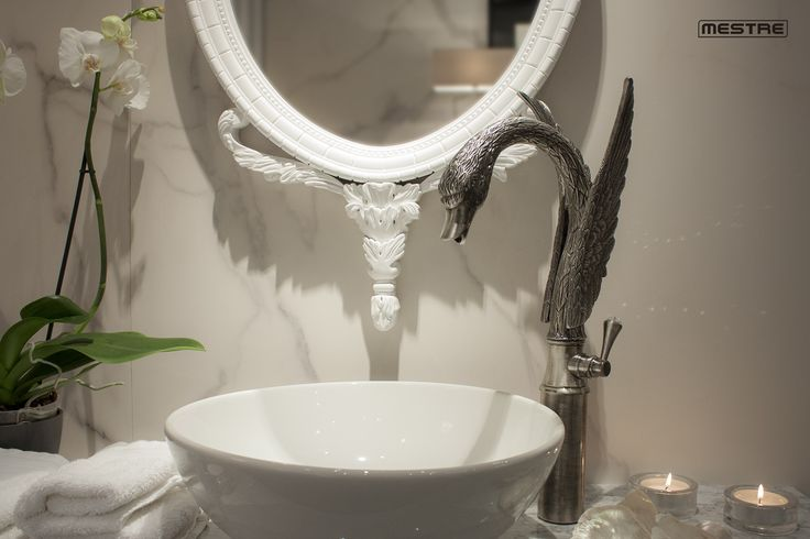 Swan by Mestre and Coleccion Alexandra. Artistic faucet. New bathroom concept