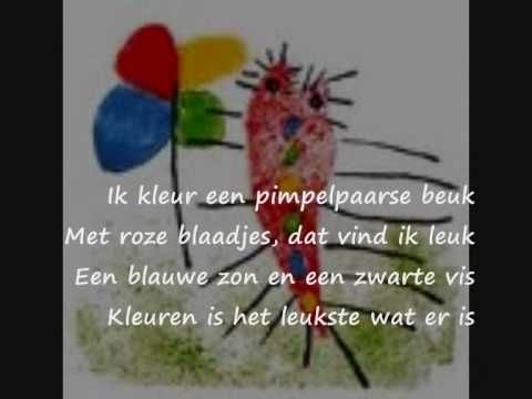 "Ik wil kleuren - a song about colors? ...to the tune of ""feelin' groovy"". LOL"