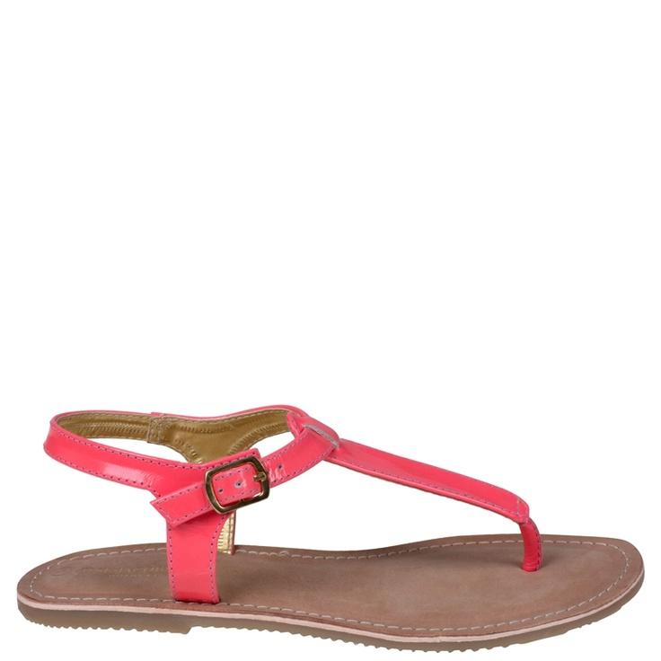 Ilse Jacobsen Flat Leather Sandal Coral