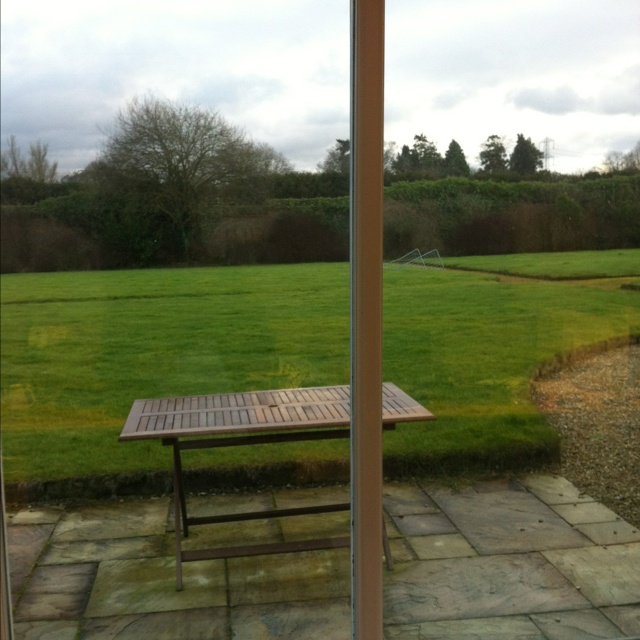 Nice view into the old kitchen garden though