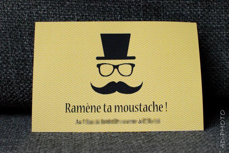 Carte d'invitation Moustache
