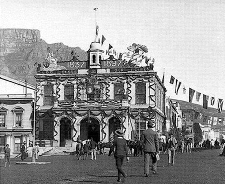 Town House, Greenmarket Square, Cape Town | Celebrating Queen Victoria's Diamond Jubilee. c1897