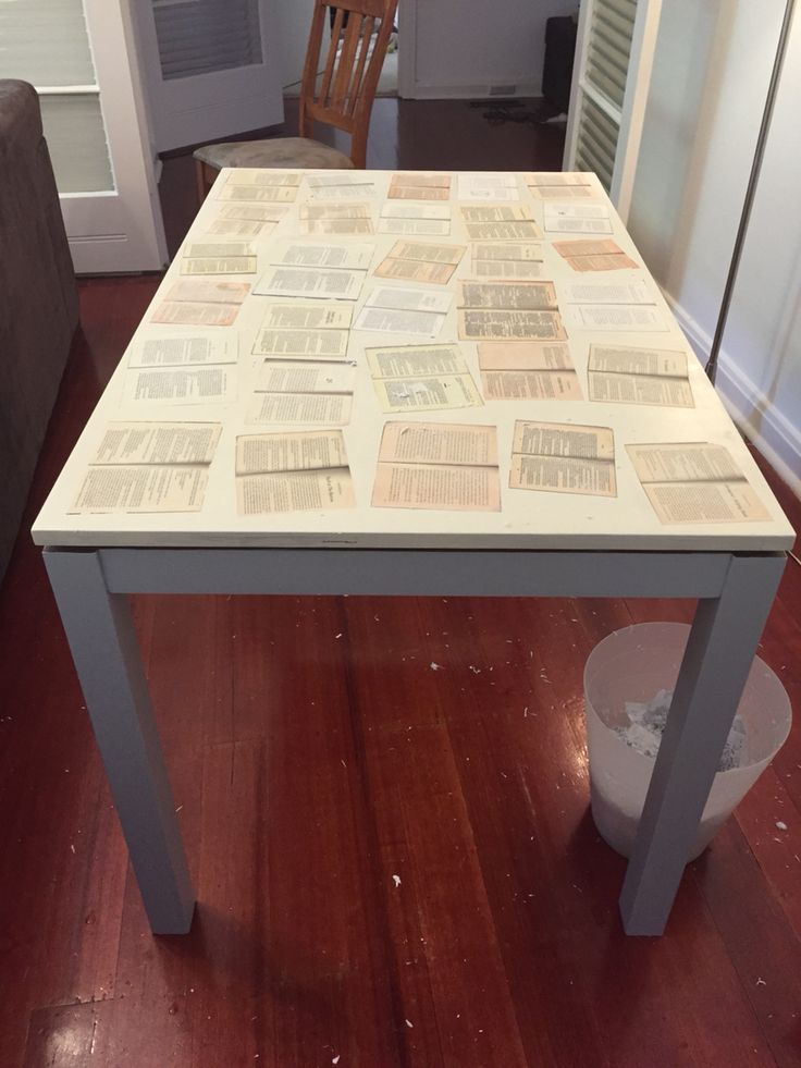 Furniture Makeover Old Dining Table Turned Into Desk