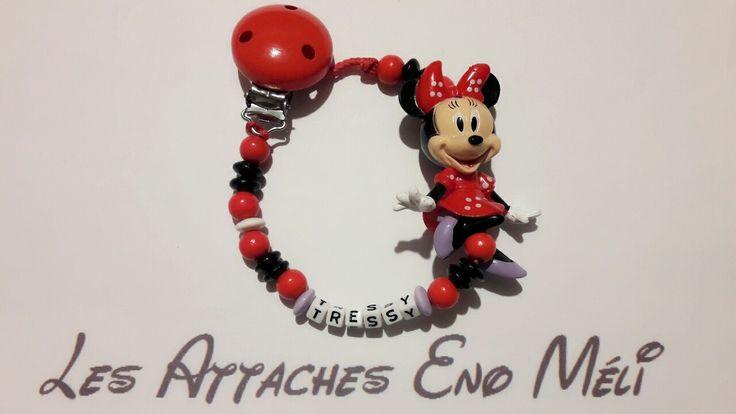 attache tétine personnalisée personnage Minnie : Puériculture par les-attaches-eno-meli