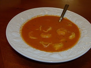Tomato Basil Ravioli Soup- in a slow cooker