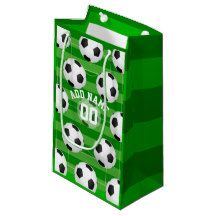 Soccer/Football Party Personalized Small Gift Bag