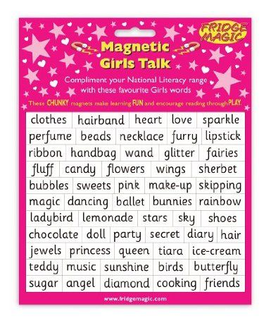 Magnetic Girls Talk Words to complement National Literacy Words: Amazon.co.uk: Toys & Games
