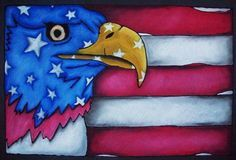 Patriotic Art Project, Chalk Pastel on Black Construction Paper – Conway High Sc…