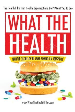 What the Health is the follow-up film from the creators of the award winning documentary Cowspiracy.   It is a must-watch for every American consumer who is working hard to take control of your own Health.
