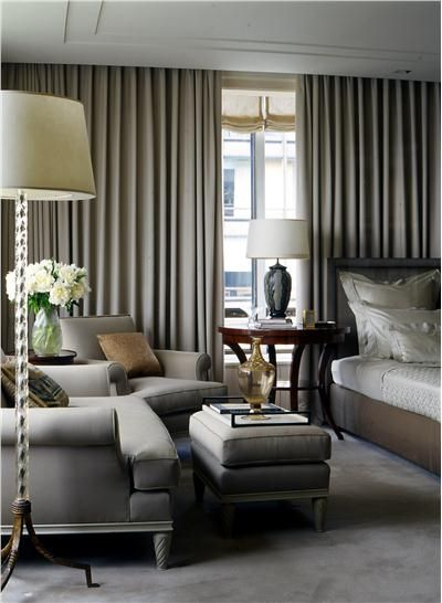 Elegant Transitional Bedroom by Glenn Gissler
