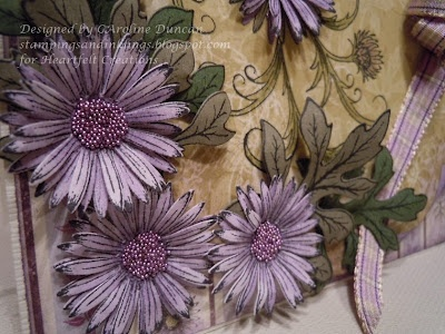Designed by Caroline Duncan ~ Stampings and Inklings: Delicate Asters