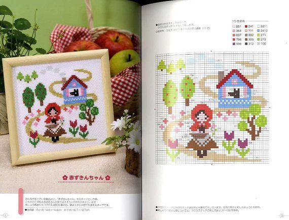 CROSS STITCH EMBROIDERY Vol 6 Japanese Craft Book por pomadour24