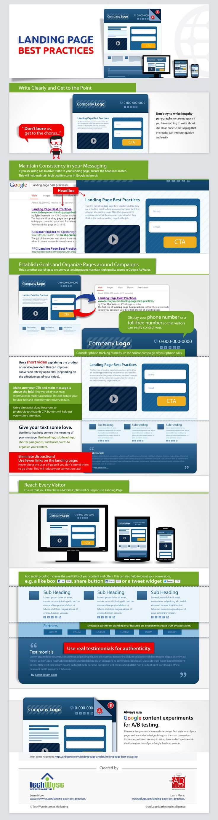 Infographics Landing Page Best Practices