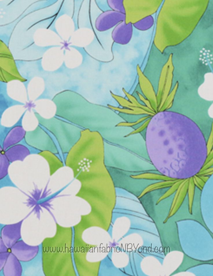 Pastel Tropical Fabric #Pineapples #floral #pastel #Hawaiian #fabric #etsy #sewing #tropical