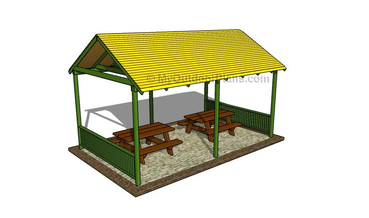 How to build a picnic shelter archery shelter for A frame shelter plans
