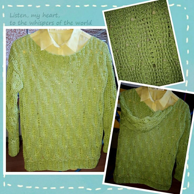 Crochet woman sweater