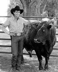 Lane Frost with Red Rock.... keeping the enemy close...