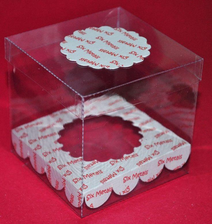 Cajas Acetato Transparente Con Zocalo Personalizado X 10 Un - $ 70,00 en MercadoLibre