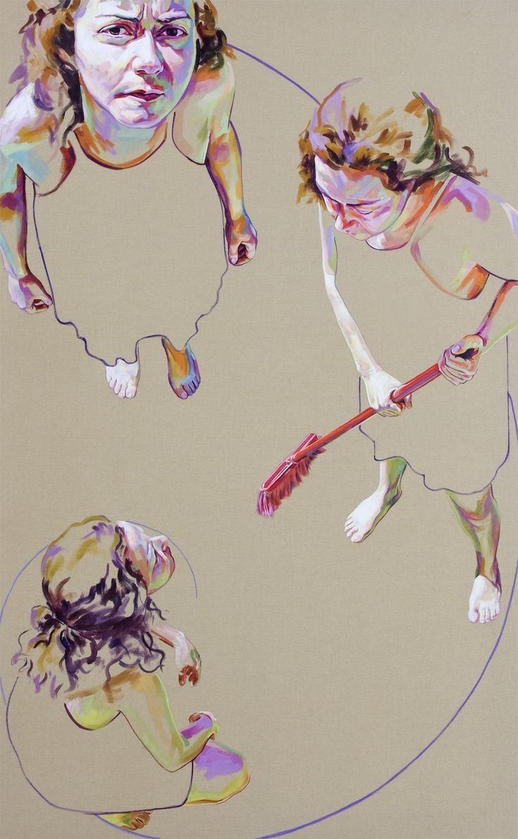 Divine, original Body Acrylic Painting by Cristina Troufa