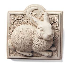 Midnight Bunny Plaque - Carruth Studio W 4.50x H 4.50x D 1.50, 1 lb.